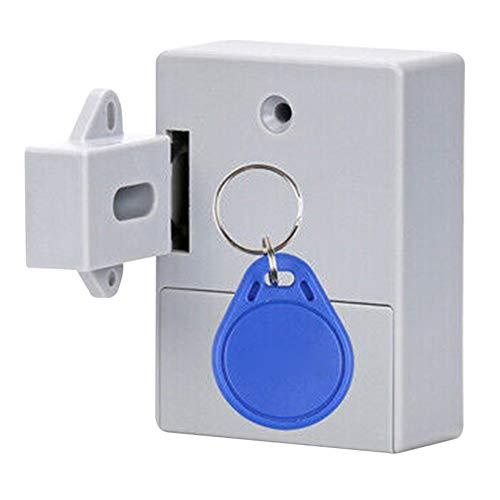 PerGrate New Electronic Smart Induction Lock, Smart Lock for Locker Drawer, Smart Sensing Induction Cabinet Wardrobe Door Lock, Black, Gray and White -