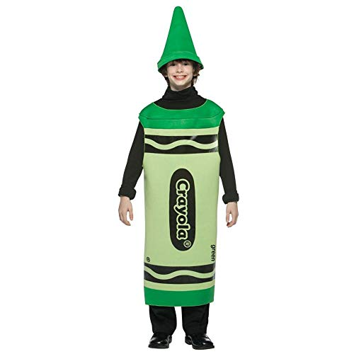 Crayola Crayons - Ages 10 / 12 - Child Fancy Dress Costume - - Green Crayon Kostüm