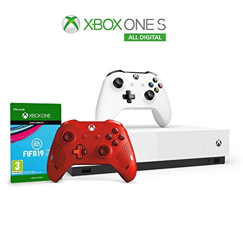 Xbox One S 1 TB All Digital Edition + FIFA 19 + Controller Sport Red