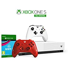 Xbox One S 1 TB - All Digital Edition Console + Controller Wireless Sport Red + Fifa 19