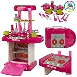 Smiles Creation™ Kids Luxury Battery Operated Kitchen Super Set With Light And Sound Toy for Kids