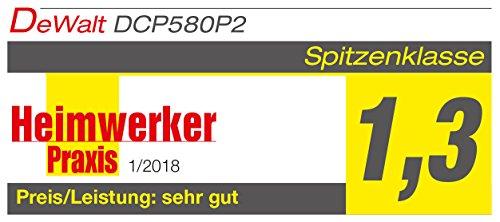 DeWalt Akku-Hobel (18 Volt, 5,0 Ah, bürstenlos, Hobelbreite 82 mm, Messerwellendurchmesser 48 mm, inkl. Zubehör, 2 Akkus, System-Schnellladegerät und TSTAK-Box VI) DCP580P2