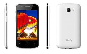 Kimfly T3000 White 4 inch TouchScreen Dual Sim Mobile Phone Whatsapp enabled (White)