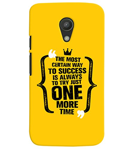 ColourCrust Success Motivational Quote Printed Designer Back Cover For Motorola Moto G2 / Second Generation Mobile Phone - Matte Finish Hard Plastic Slim Case