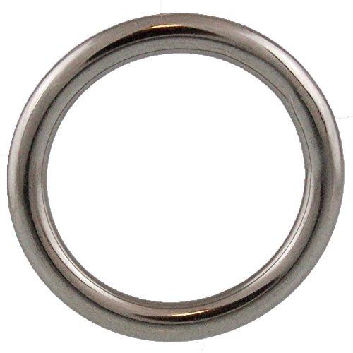 2 Stück Ringe 4 X 25 geschweißt, poliert, Edelstahl A4