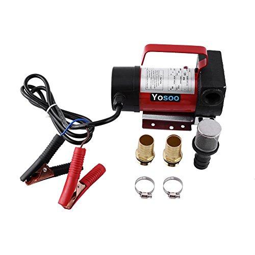 Pompa Gasolio, 12 V 40l/min Pompa Carburante Diesel Benzina Liquido Refuel Trasferimento Portatile per Auto/Moto/Veicolo