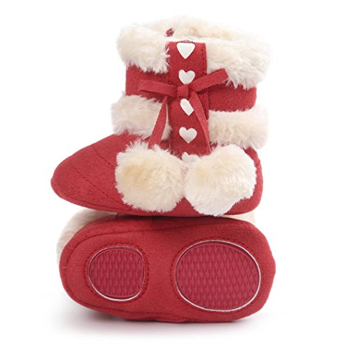 Suaves 18 12monat Sapatos De ~ Sapatos De Neve Berço Meses 6 Botas De Bebê Jamicy® Vermelho Criança Quente De Para Vermelho 0 Bebê Botas Melancia Inverno qBa0Frnq
