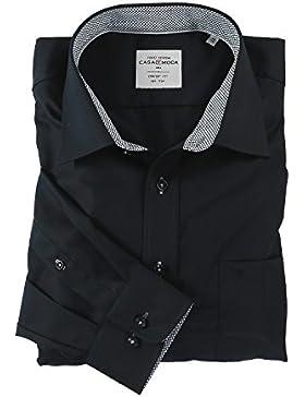 Casa Moda Hemd Comfort Fit bügelfrei uni Kent-Kragen mit Kontrast (352352100)