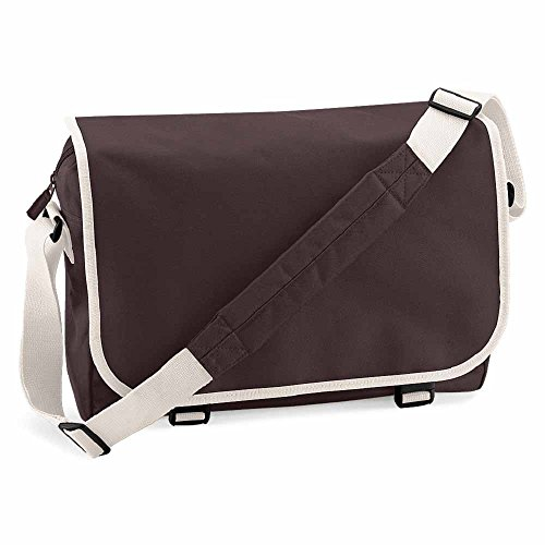 BagBase-Borsa a tracolla porta documenti tracolla-BG21-marrone cioccolato-Unisex Uomo/Donna -