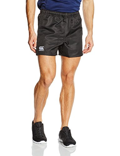 Canterbury Men's Professional Polyester Shorts - Black, Small (Taille Elastische Twill Shorts Herren)