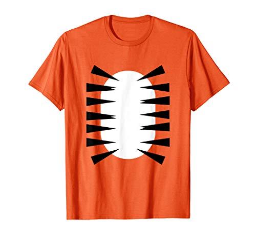 Tiger Bauch Halloween-Kostüm mit Streifen T-Shirt