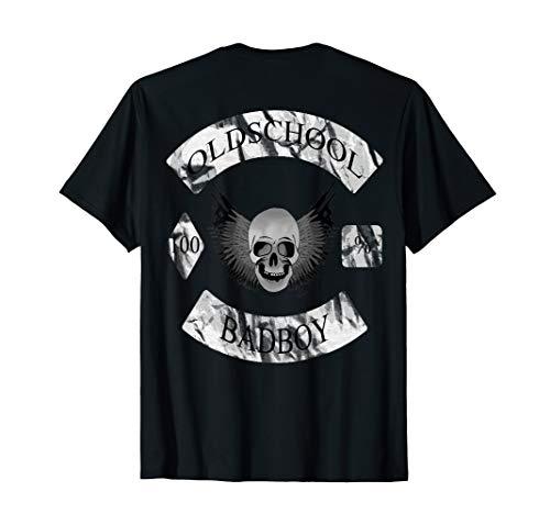 kopf distressed look - waffen flügel Biker club T-Shirt ()