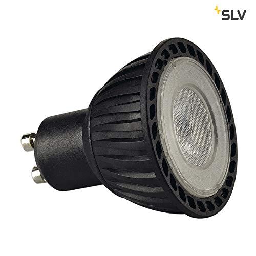 SLV LED GU10 Leuchtmittel, 5,1cm Ø , 4,3 Watt, 2700 Kelvin (warmweiß), 245 Lumen Lichtstrom, nicht dimmbar , äußerst sparsame LED-Lampe mit EEK A+ und 5 kWh Energieverbrauch , 25.000 h Lebensdauer - Slv Led