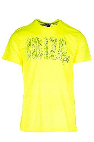 Emporio Armani EA7 t-shirt maglia maniche corte girocollo uomo giallo EU M (UK 38) 3YPT57 PJ80Z 1652