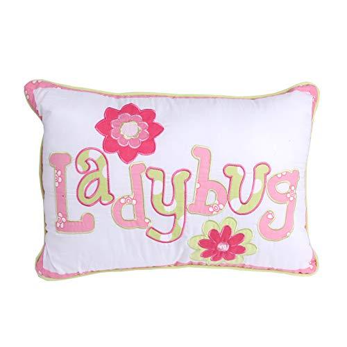 Cozy Line Bettwäsche-Set mit 1 Standard-Kissenbezug, Motiv Marienkäfer, für alle Jahreszeiten, 100% Baumwolle, maschinenwaschbar. (Doppel-Set), Baumwolle, Multi, Decor Pillow - Letter -