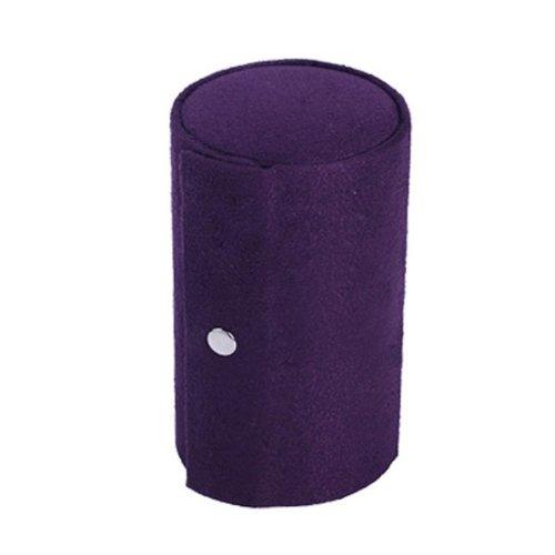Preisvergleich Produktbild Retro Zylinder geformt dreilagiger Mini Samt aufrollbar Snap Jewelry Storage Box Case Holder Organizer