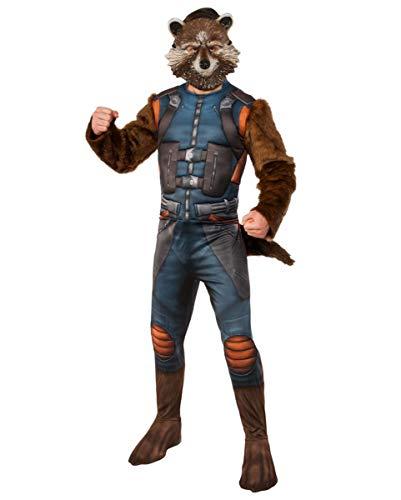 Horror-Shop Rocket Raccoon Kostüm mit Maske für Fasching & Halloween Standard