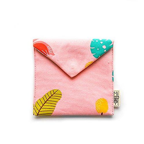 Kumkey Mädchen Sanitär Pad Tasche Baumwolle Sanitär Serviette Organizer Halter Tragbar Make-up Münzfach Tasche Mini Kosmetiktasche Aufbewahrungsbeutel Kreativer Geldbeutel (Rosa) (Sanitär-pad-halter)