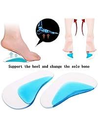 huge discount 9a417 30790 Swtylife Lot de 2 semelles orthopédiques en gel pour pied plat de la voûte  plantaire pour