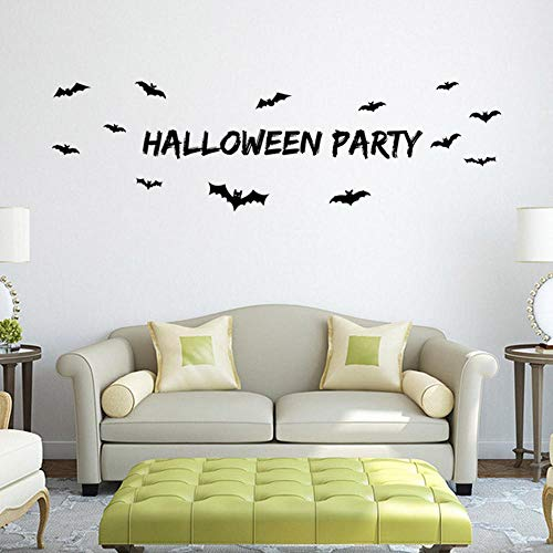 Shisky Wandaufkleber,Geschnitzte Halloween Wandtattoo Leben Hostel Schlafzimmer Dekoration entfernbare Aufkleber 58 * ()