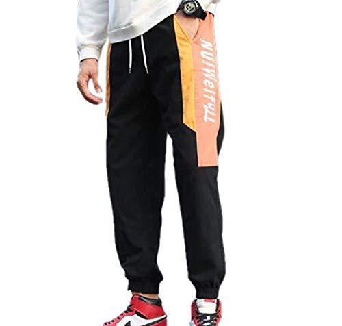 ae51857700 Huateng Accog Pantaloni Casual da Uomo Pantaloni Sciolti da Nove Uomini  Pantaloni da Uomo Piccoli di
