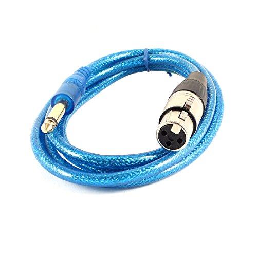 Audio 3 pin da XLR femmina a 0,64 cm maschio presa cavo del microfono 152,4 cm