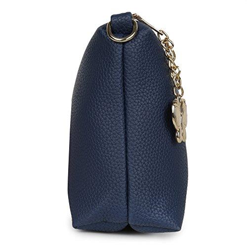 Butterflies Women Sling Bag (Blue) (BNS-B-2038#BL)