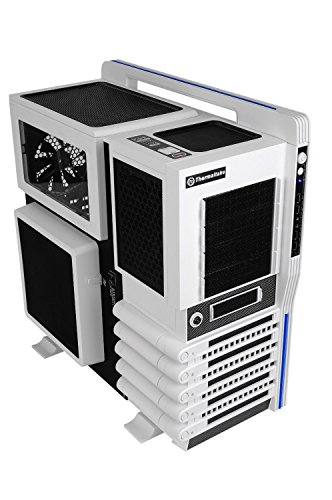 Thermaltake VN10006W2N Level 10 GT Snow Edition Full Tower PC-Gehäuse (E-ATX, 1x e-SATA, 2x USB 3.0) weiß