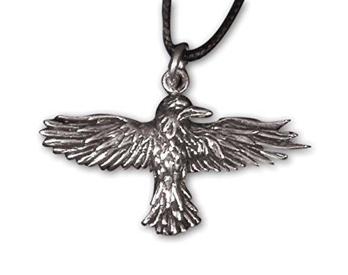 """etNox-ciondolo a forma di """"corvo VOLANTE"""" 925 argento (K5010)"""