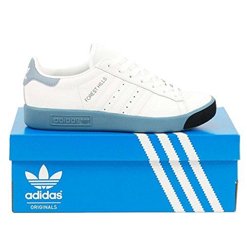 adidas Originals Forest Hills, Footwear White-Footwear White-Raw Grey, 8 (Hills-schuhe Für Frauen)