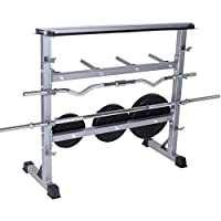 Nova - Soporte para pesas de 3 niveles, carga máxima de 300 kg, de acero para discos, mancuernas y barras