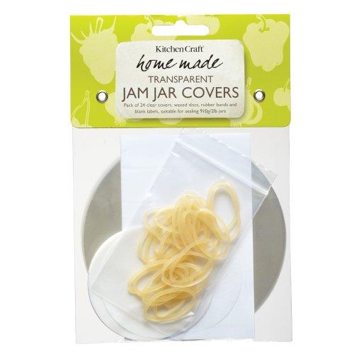 Kitchen Craft Home Made - Juego de fundas de tapa para tarros de mermelada (24 unidades)