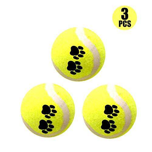 Eyourlife 3pcs Pelotas Tenis Juguete Mascotas Bolas