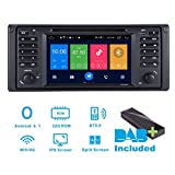 Android 8.1 Autoradio DAB+ (im Lieferumfang enthalten) für BMW X5 E39 17,8 cm (7 Zoll) Touchscreen, GPS-Navigation, Navi Canbus/IPS-Panel/Multi-Touch-Screen/Bluetooth/WIFI/4G/DVD-Player/RDS/SWC/AUX