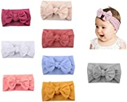 6 PCS Baby Girls Bowknot Headbands Elastic Soft Hairbands Headband Head Wraps Stretch Hair Band Hair Styling A