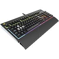 Corsair STRAFE RGB Mechanische Gaming Tastatur (Cherry MX Silent, Multi-Color RGB Beleuchtung, QWERTZ) schwarz