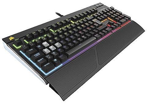 Corsair CH-9000121-DE Strafe RGB Mechanische Gaming Tastatur (mit Cherry MX Silent Tasten, Multi-Color RGB Beleuchtung und ergonomischen Design mit Handballenauflage, QWERTZ-Layout) schwarz