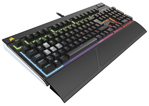 Corsair STRAFE RGB Mechanische Gaming Tastatur (Cherry MX Silent, Multi-Color RGB Beleuchtung, QWERTZ) schwarz (Wireless Headset Corsair)