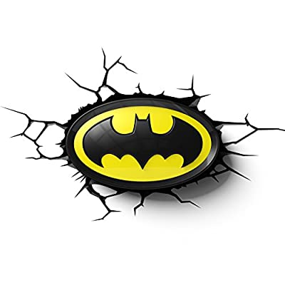 Batman Dc Comics Logo 3d Wall Deco Light - low-cost UK wall light store.