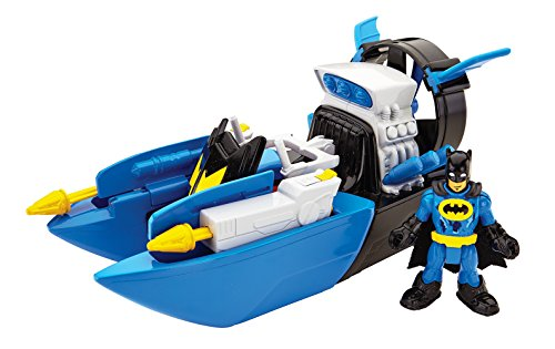 DC Fisher Price – Imaginext Super Friends – Bat Boat – Véhicule + Mini Figurine