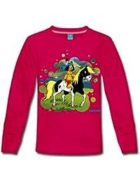 Yakari Indianer Reitet Auf Pferd Kleiner Donner Kinder Premium Langarmshirt von Spreadshirt®