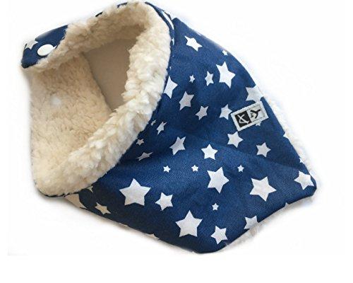 Anna York Design - Baby Kinder Halstuch Loop Schal, Bio-Baumwolle, Mädchen Jungen, Hergestellt in Deutschland (Halstuch blau)