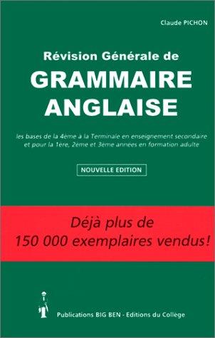 REVISION GENERALE DE GRAMMAIRE ANGLAISE....
