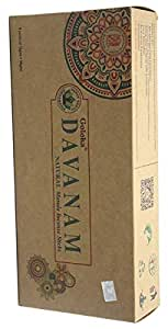 Goloka Dhavanam Natural Masala Incense - 15 Gram Pack (6 Packs Per Box)