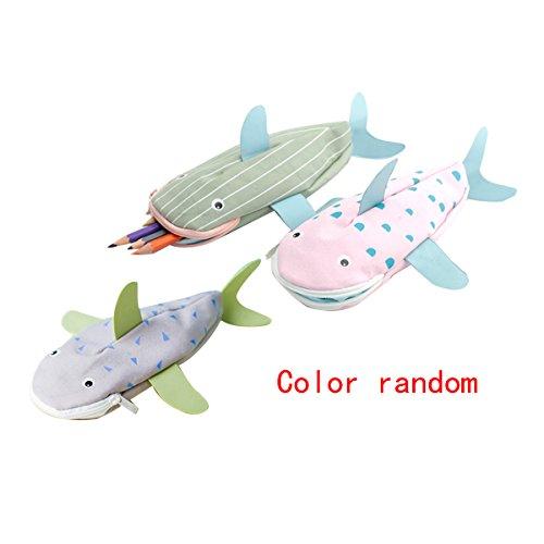 Millya cute 3D Shark Shape Pencil bag Animal tela studenti di matita Misura unica color ramdomly