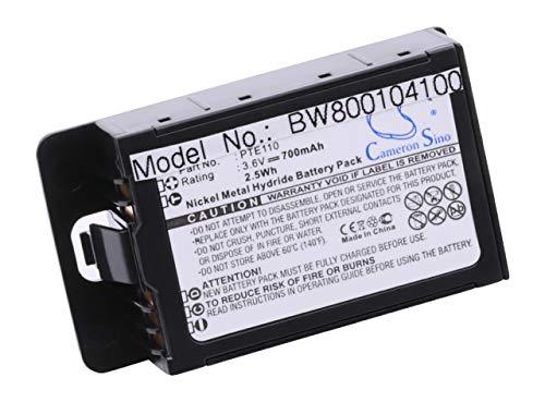 Batería Ni-MH 700mAh (3,6V) compatible con Avaya 3616, Spectralink BPE100,  BPE110, Netlink E340, PTE130A, PTE150  Sustitye baterías PTE110