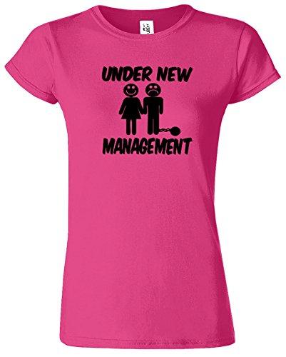 Under New Management Hirsch Nacht Hochzeit Herren T Shirt Antique Heliconia / Schwarz Design