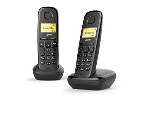 Gigaset a 170 duo telefono cordless, nero
