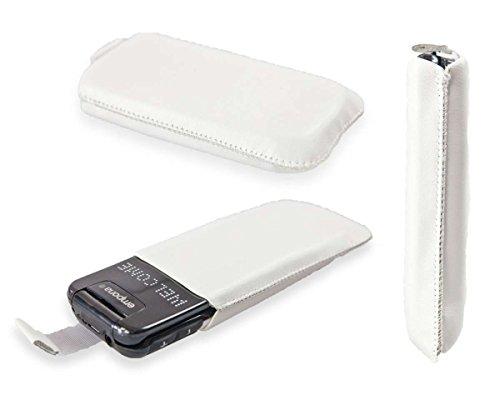 caseroxx Slide-Etui Handy-Tasche für Emporia Flip Basic F220 aus Kunstleder, Handy-Hülle in weiß