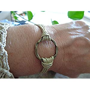★ BRONZE RING ★ Vintage Armband gehämmerter Ring